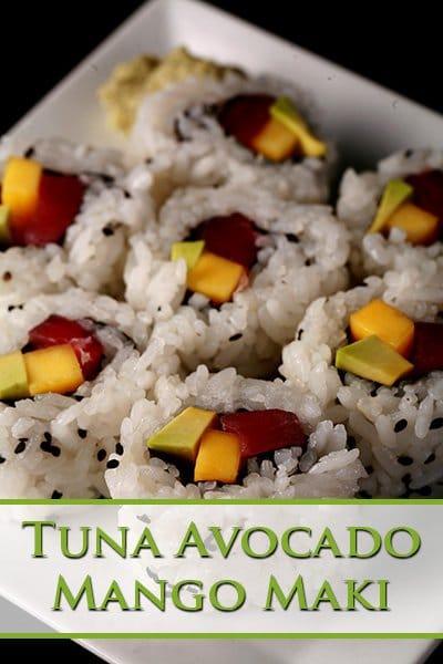 Tuna Avocado Mango Maki