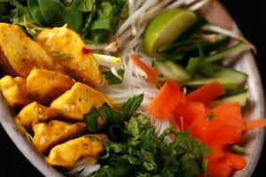 Curried Chicken Vietnamese Noodle Salad.