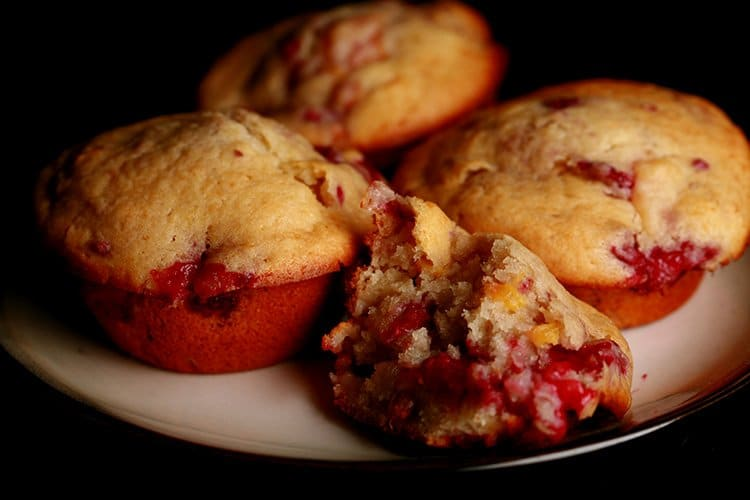 Raspberry Nectarine Muffins