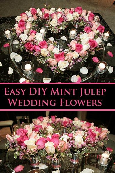DIY Julep Rose Heart Arrangements