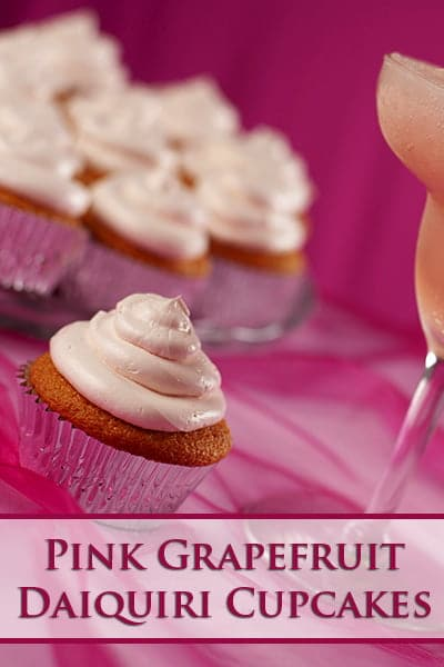Pink Grapefruit Daiquiri Cupcakes