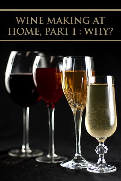 Wine Making at Home, Part I : WHY?