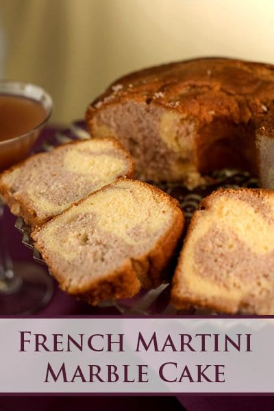 French Martini Marble Cake