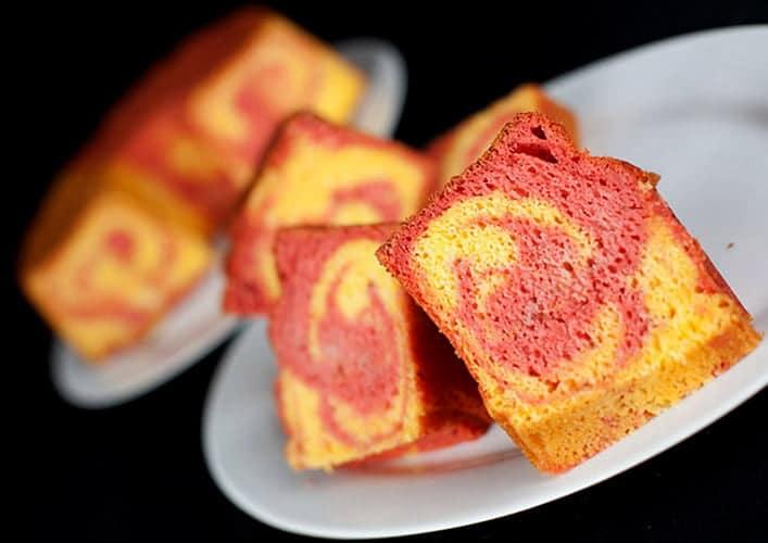 Strawberry Mango Marble Cake