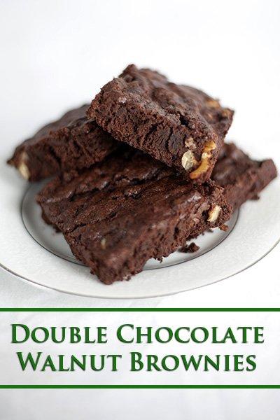 Double Chocolate Walnut Brownies