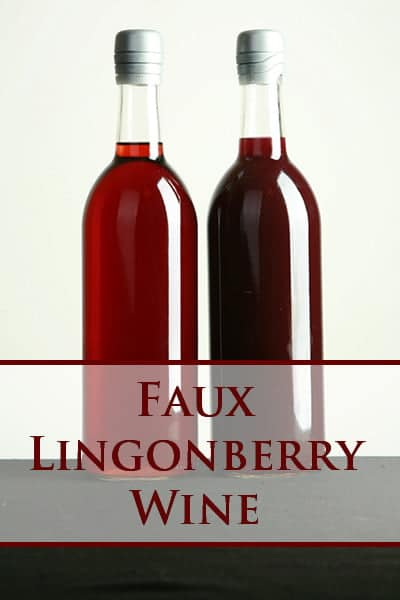 Faux Lingonberry Wine