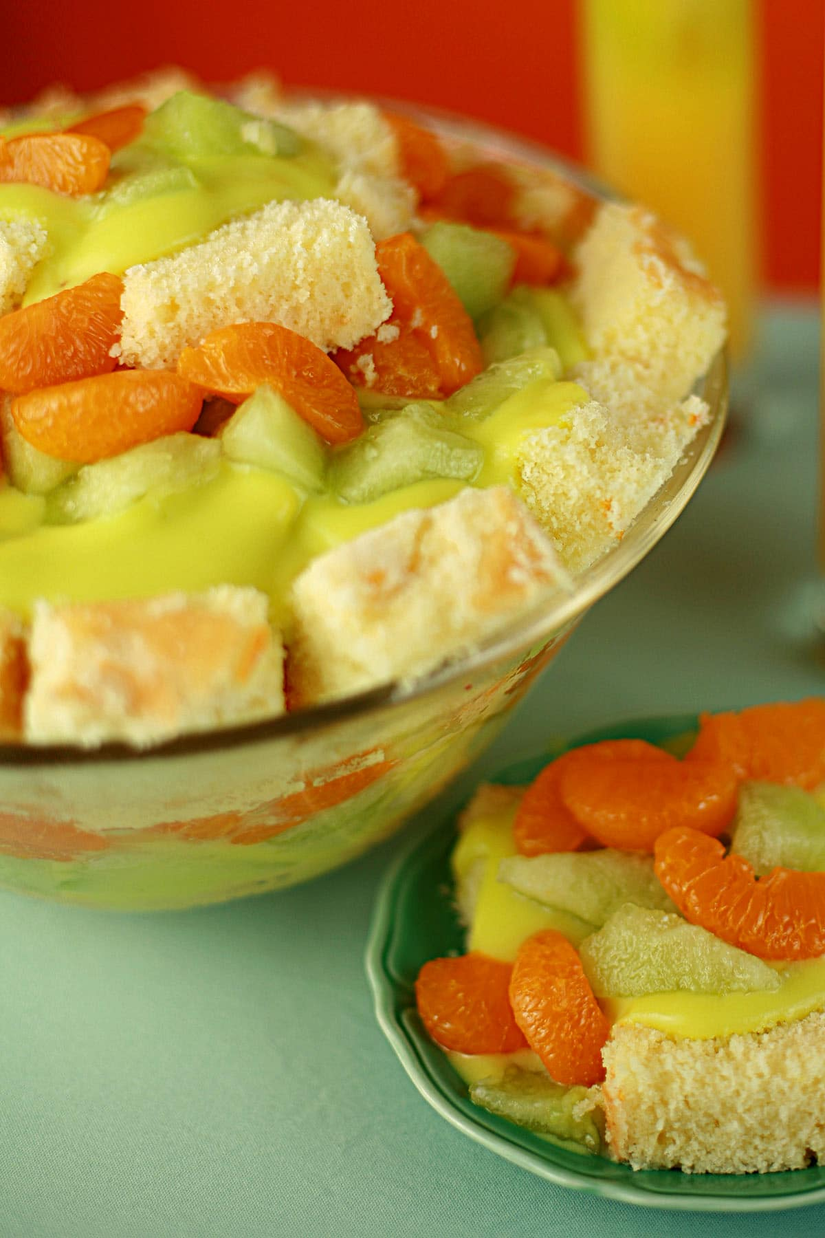 """Trifle is an easy dessert, and one that's sure to impress. This Melon Ball Trifle is from my book, """"The Spirited Baker"""", themed on a favourite cocktail!"""