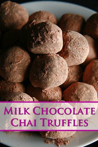 Milk Chocolate Chai Truffles