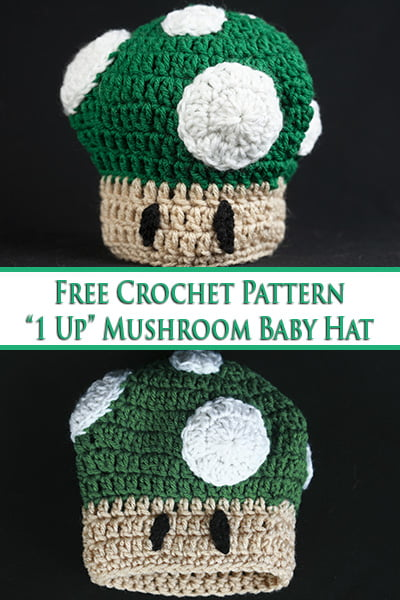 Free Crochet Pattern: 1 Up Mushroom Hat