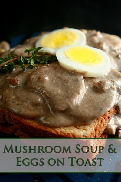 Mushroom Soup and Eggs on Toast