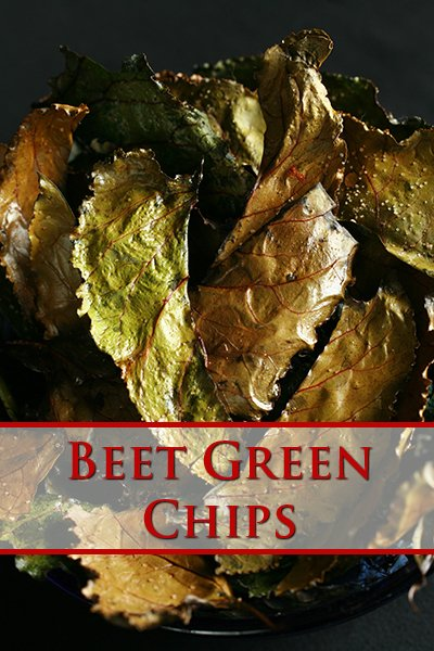 Roasted Beet Green Chips