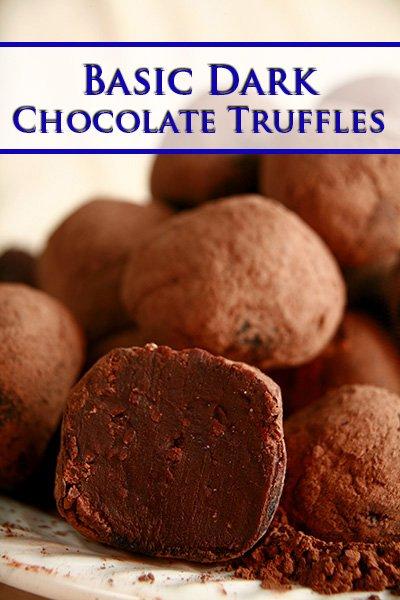Basic Dark Chocolate Truffles