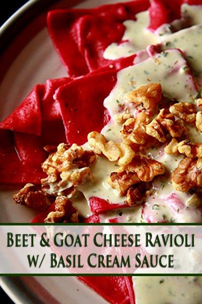 Beet and Goat Cheese Ravioli