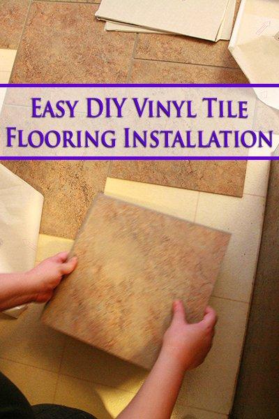 This DIY Vinyl Tile Flooring Installation