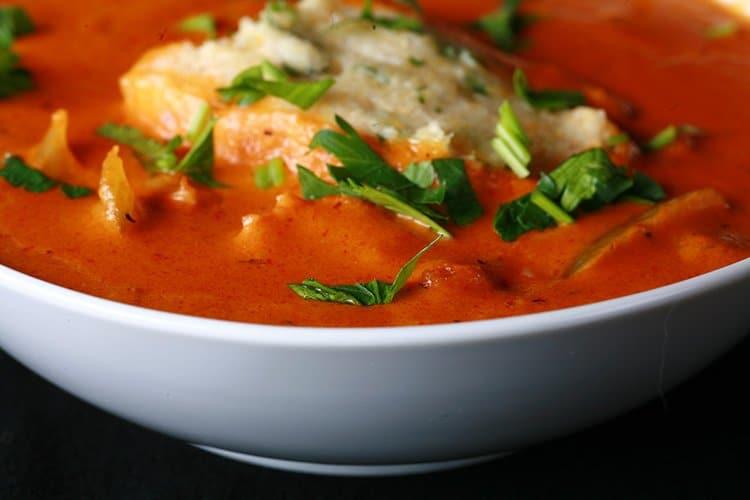 Gluten-Free Creamy Creole Soup & Cornmeal Dumplings