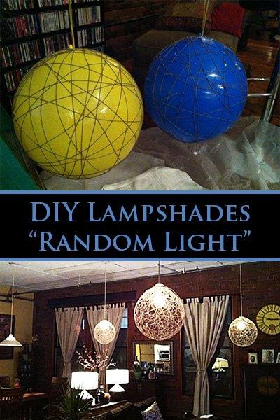 """DIY """"Random Light"""" Lampshade"""