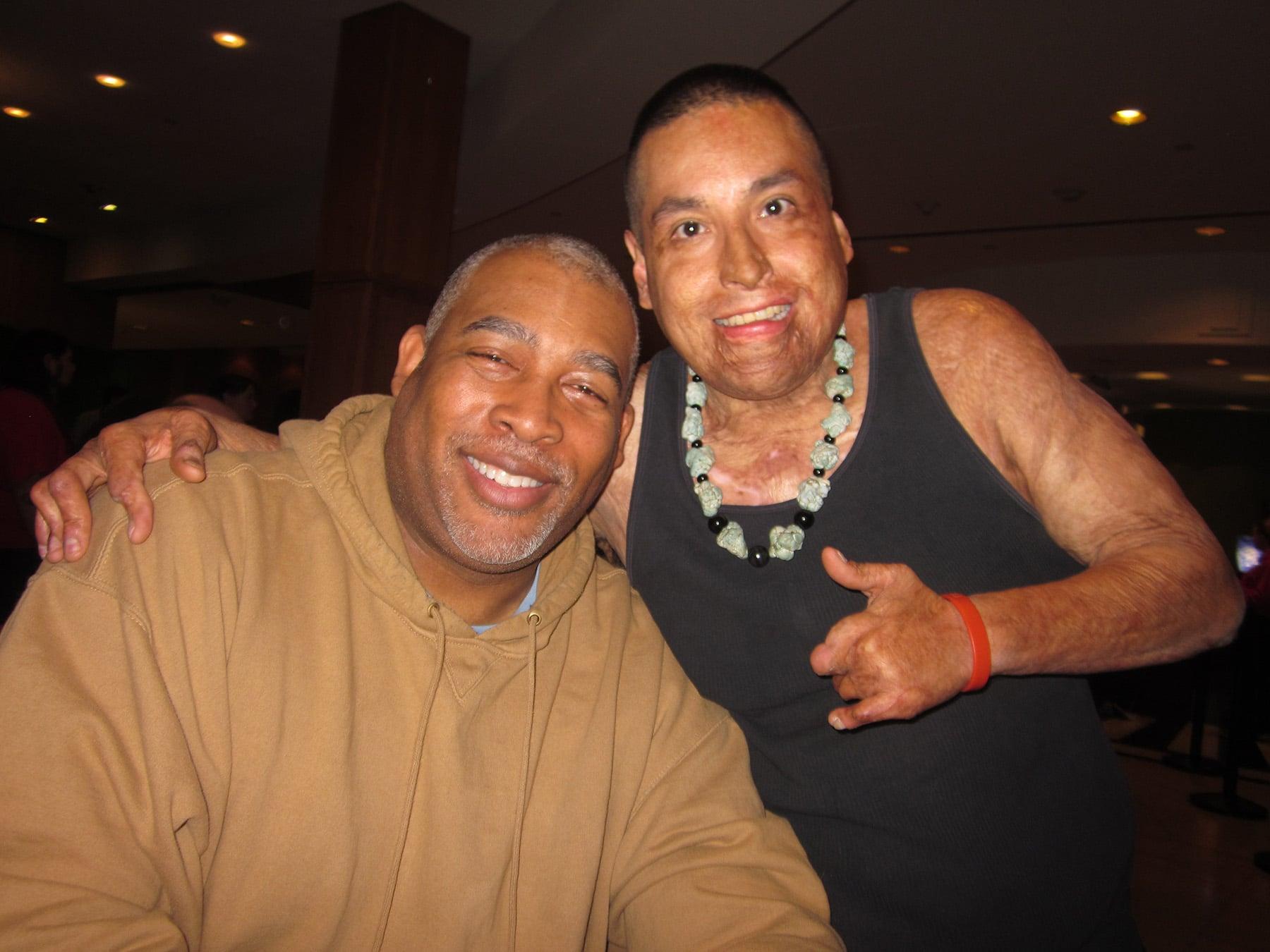 Masterchef contestants Kevin and Rudy.