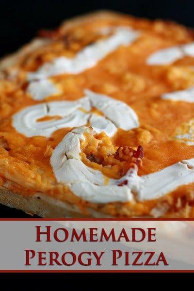 Homemade Perogy Pizza