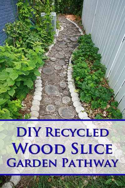 DIY Wood Slice Garden Path
