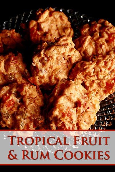 Tropical Fruit and Rum Cookies