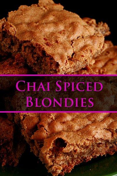 Chai Blondies