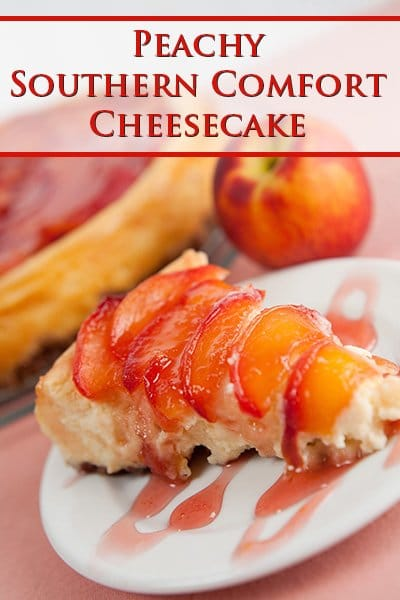 Peach Southern Comfort Cheesecake
