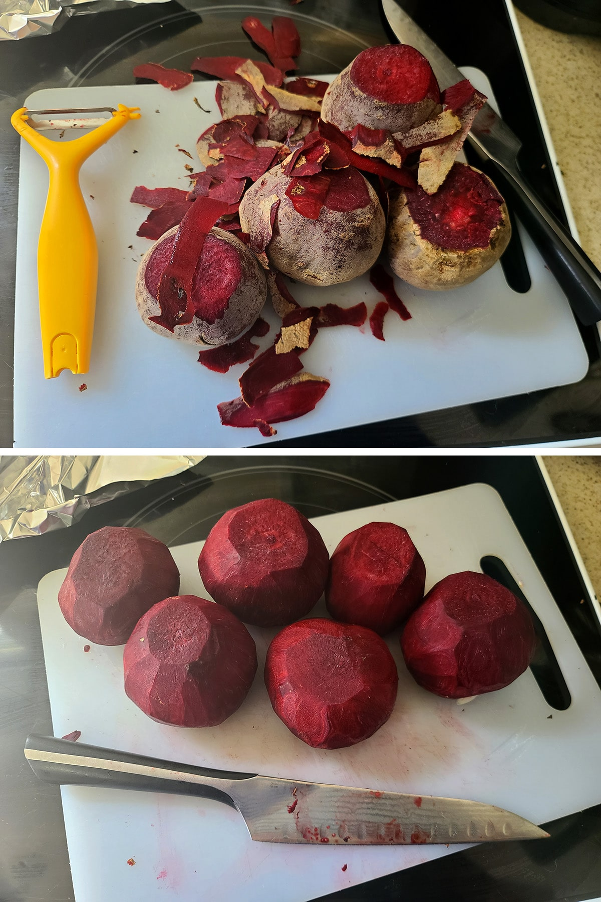 A pile of peeled beets.