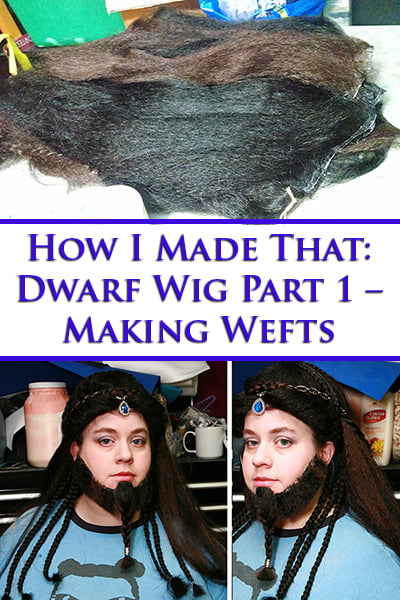 Dwarf Wig Tutorial Part 1 - Making Wefts