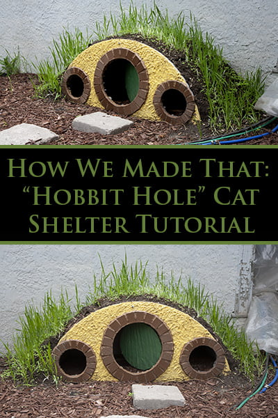 """Hobbit Hole"" Cat Shelter Tutorial"
