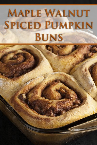 Maple Walnut Spiced Pumpkin Buns