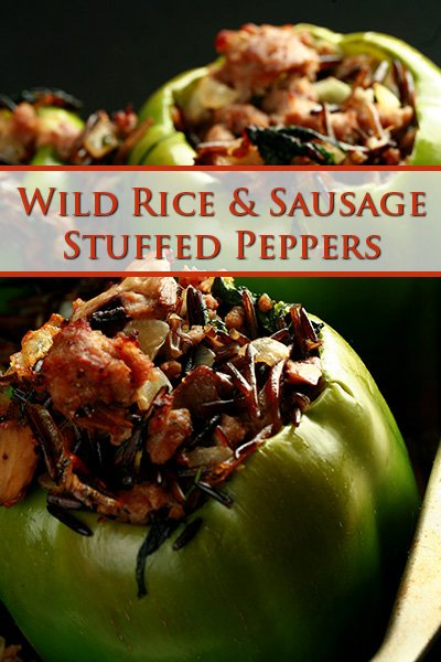 Wild Rice & Sausage Stuffed Peppers