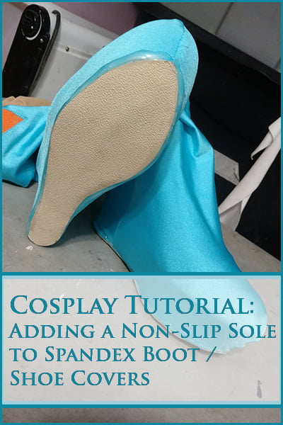 Adding a Non-Slip Sole to Spandex Boot Covers