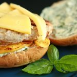 Apple Chicken Gouda Burgers with Basil