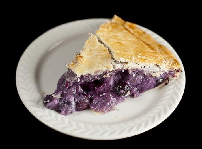 Creamy Blueberry Amaretto Pie