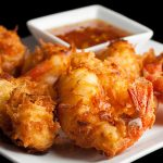 Gluten-Free Coconut Shrimp with Spicy Ginger-Orange Sauce