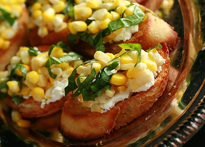 Sweet Corn Bruschetta