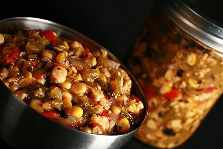 Roasted Corn Salsa Verde For Canning