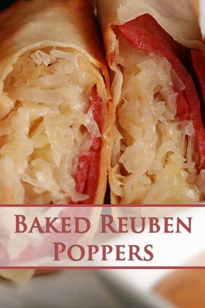 Baked Reuben Poppers