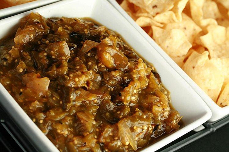 Roasted Salsa Verde for Canning