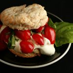 Savory Tomato Goat Cheese Shortcake