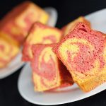 Strawberry Mango Marble Cake