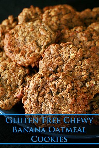 Gluten-Free Chewy Banana Oatmeal Cookies
