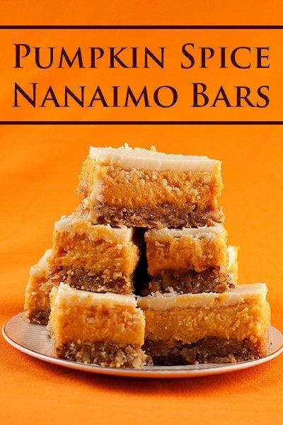 Pumpkin Spice Nanaimo Bars