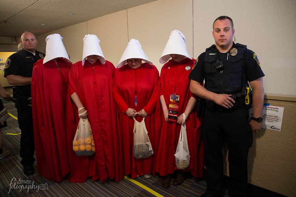 Handmaids and police officers