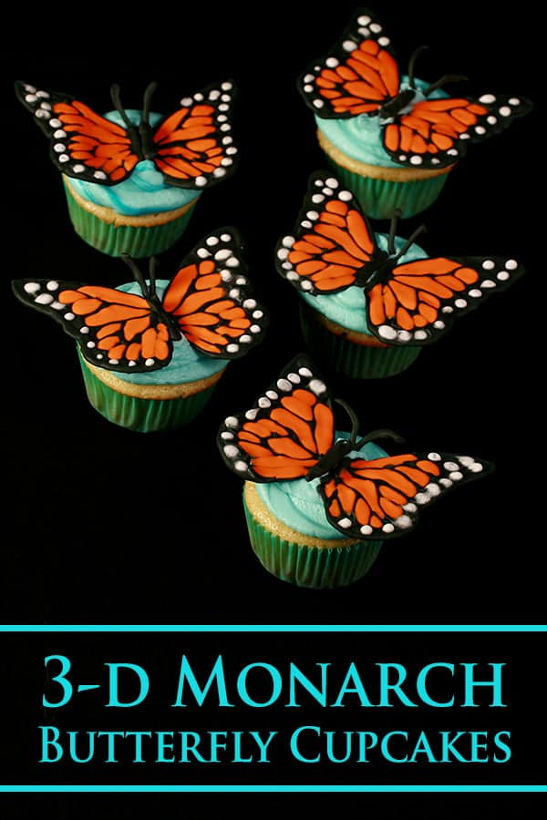 3D Monarch Butterfly Cupcakes