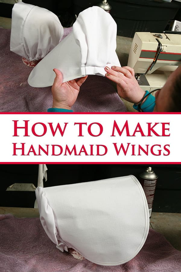 Pinterest image for How to make Handmaid's Tale Wings