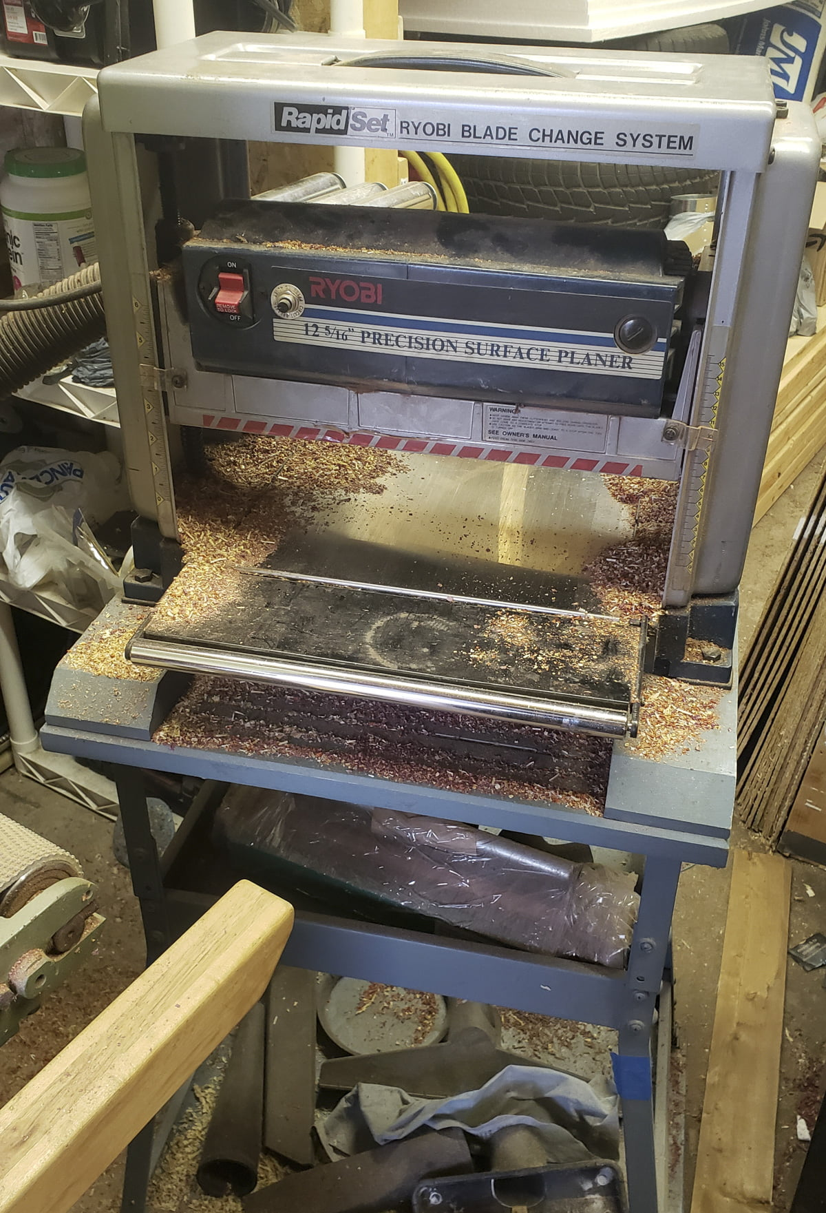 A planer in a work shop.
