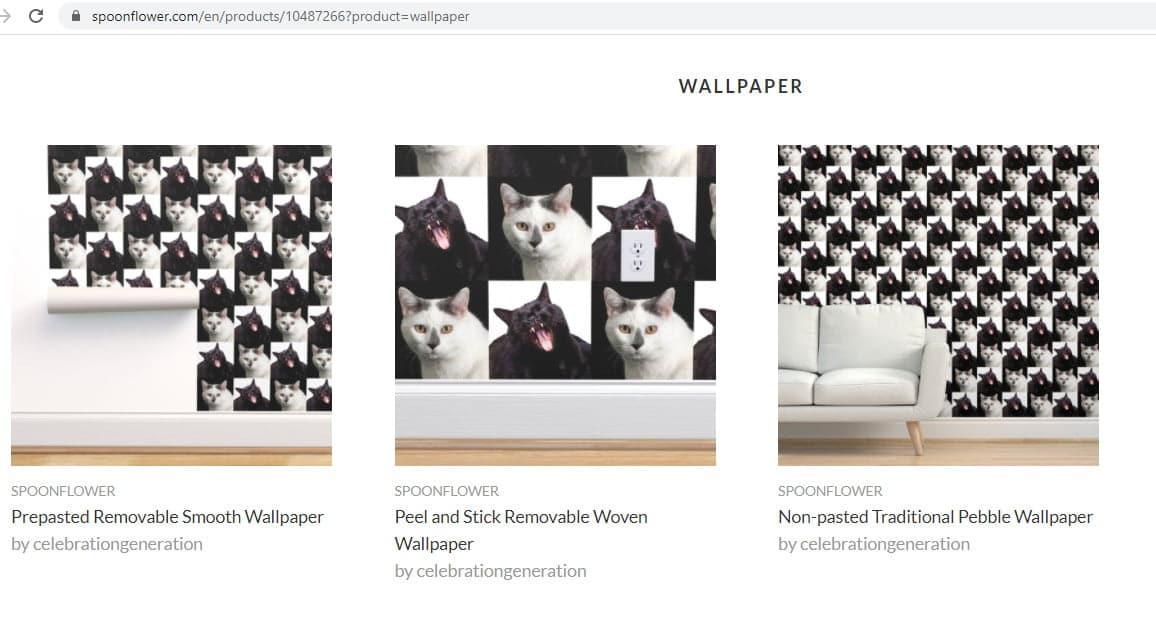Screen shot of Spoonflower's website